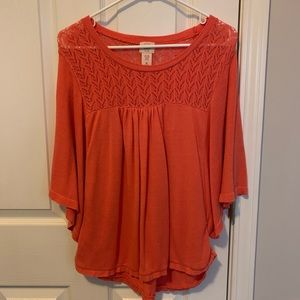 Flowy Knit Salmon Colored Top